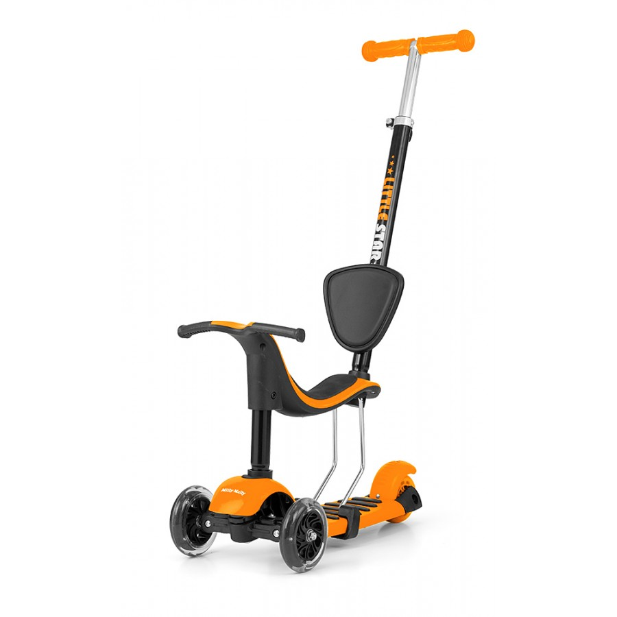 Hulajnoga Rowerek Biegowy Jeździk Scooter Little Star 3w1 Orange